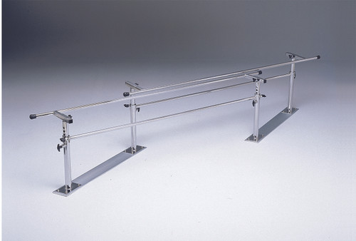 "Parallel Bars, steel base, folding, height and width adjustable, 7' L x 16"" - 24"" W x 22"" - 36"" H"