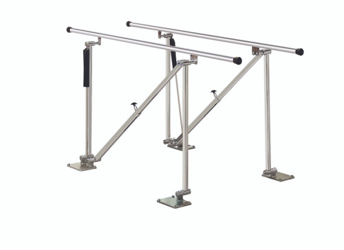 "Parallel Bars, floor mounted, height adjustable, 7' L x 22.5"" W x 31"" - 41"" H"