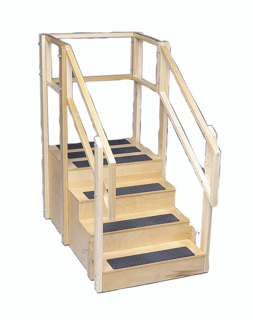 "Training stairs, straight, 4 steps with platform, 55"" L x 30"" W x 54"" H"