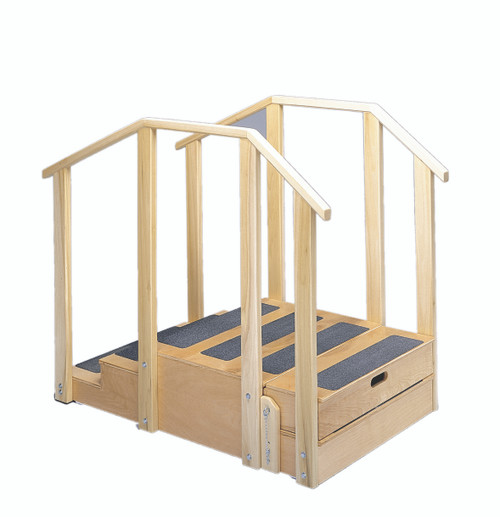 """Training stairs, straight, 2 and 3 steps with platform, 55"""" L x 30"""" W x 40"""" H"""