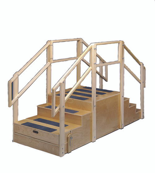 "Training stairs, straight, 8 steps with platform, 96"" L x 36"" W x 60"" H"