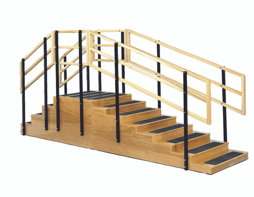 "Training stairs, convertible, 4 and 8 steps with platform, 24"" x 24"" platform"