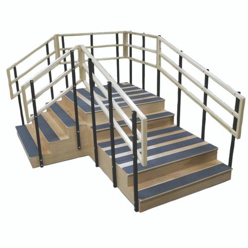 """Bariatric training stairs, 78"""" x 104"""""""