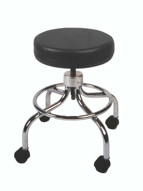 """Mechanical mobile stool, no back, 18"""" - 24"""" H, specify upholstery color"""