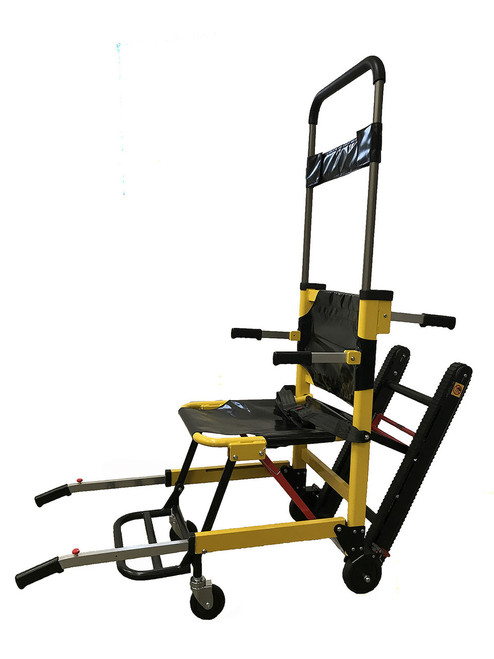 Manual Track Stair Chair-4 Wheels-Yellow