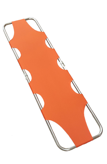 Flat Folding Stretcher,Aluminium, Orange