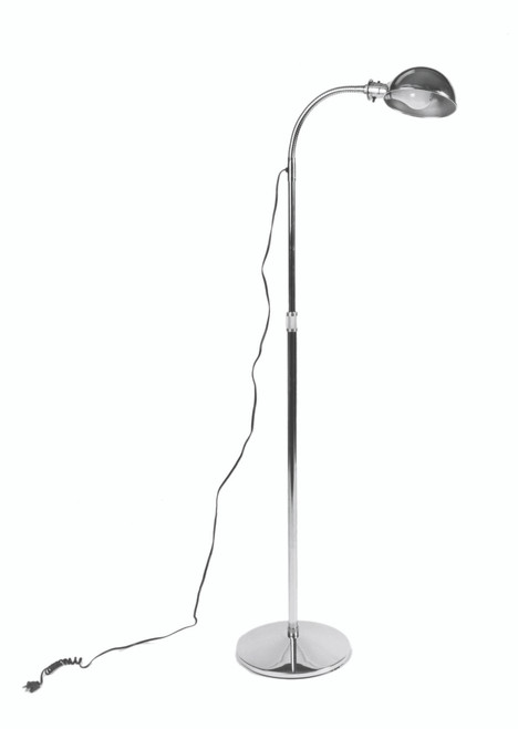 Gooseneck exam lamp, stationary base, 3-prong plug