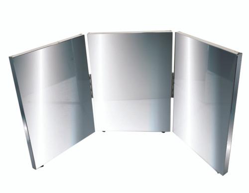 """Glassless mirror, triple panel, 12"""" W x 16"""" H"""