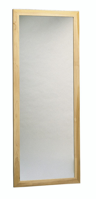 "Glass mirror, wall mount, vertical, 28"" W x 75"" H"