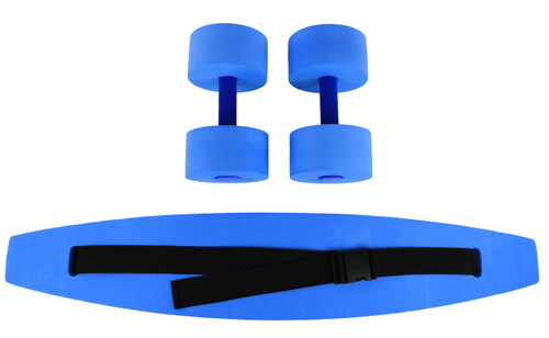 CanDo¨ aquatic exercise kit, (jogger belt, hand bars) large, blue
