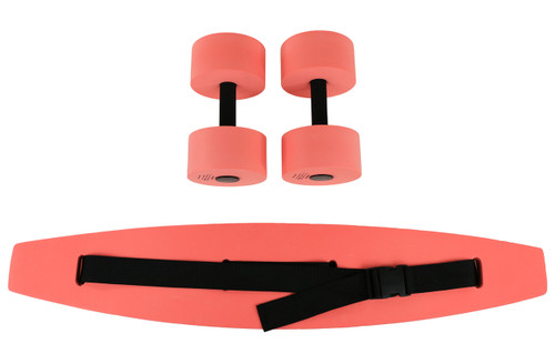 CanDo¨ aquatic exercise kit, (jogger belt, hand bars) large, red