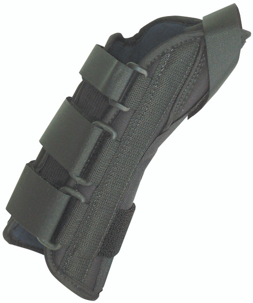 """8"""" soft wrist splint left, small 6-7"""" with abducted thumb"""