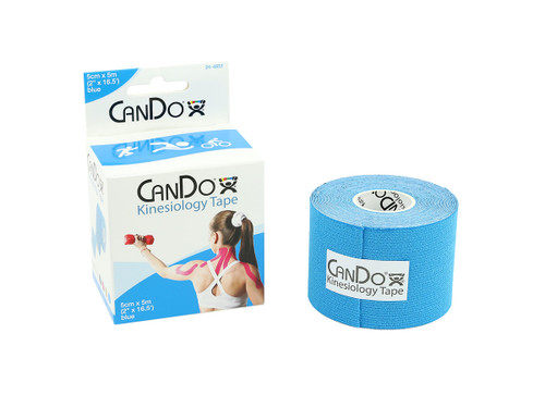 """CanDo¨ Kinesiology Tape, 2"""" x 16.5 ft, Blue, 10 Rolls"""