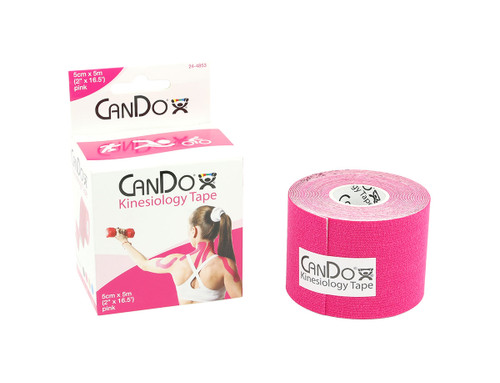 """CanDo¨ Kinesiology Tape, 2"""" x 16.5 ft, Pink, 1 Roll"""