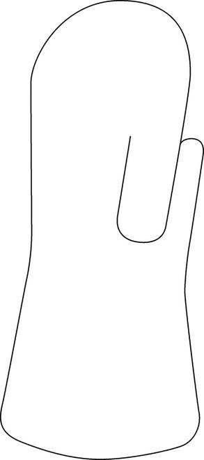 """Orfit¨ Classic Pre-Cuts Intrinsic Anti-Spastic Hand Splint, 1/8"""" mini perforated, small"""