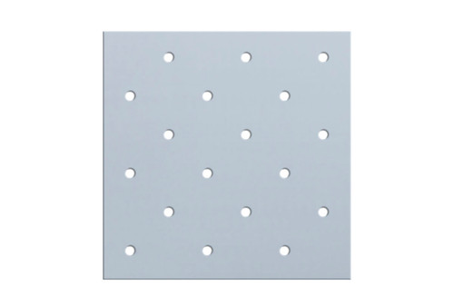 """Orfit¨ Colors NS, 18"""" x 24"""" x 1/8"""", mini perforated 3.5%, sonic silver, metallic"""