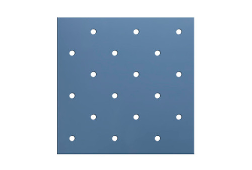 "Orfit¨ Colors NS, 18"" x 24"" x 1/8"", mini perforated 3.5%, atomic blue, metallic, case of 4"
