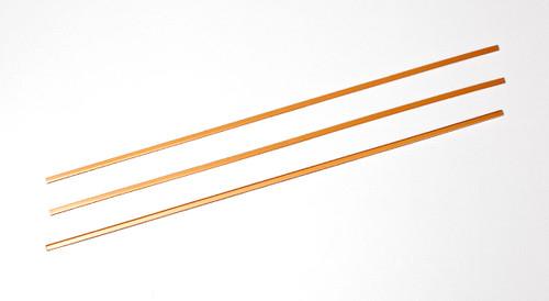 "Orfit¨ Strips, 18"" x 1/5"" x 1/12"", Gold, thin, 10 pcs"