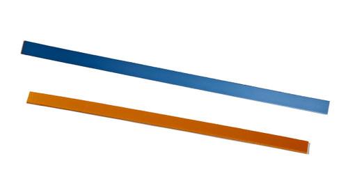 "Orfit¨ Strips, 18"" x 4/5"" x 1/8"", 5 pcs. Gold and 5 pcs. Atomic Blue, wide"
