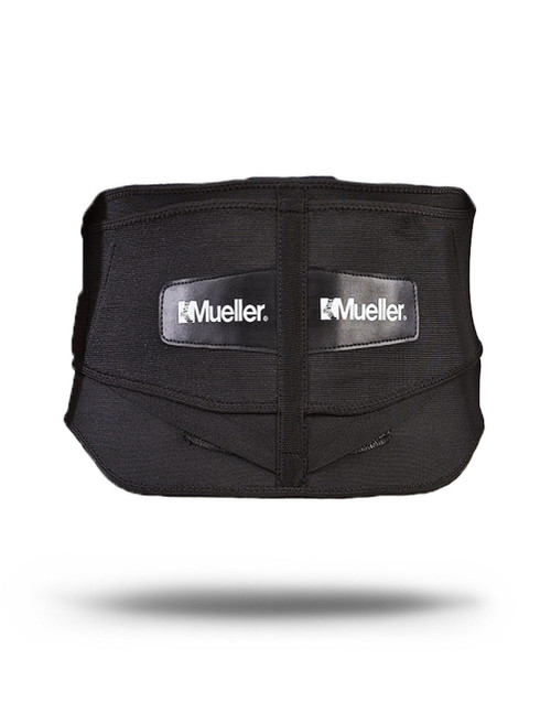 Mueller¨ Lumbar Back Brace w/ Removable Pad, Black, OSFM