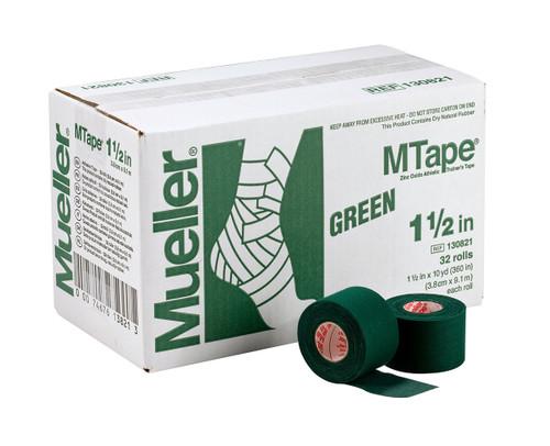"""Mueller¨ MTape¨, Green, 1.5"""" x 10 yd - 32 rolls"""