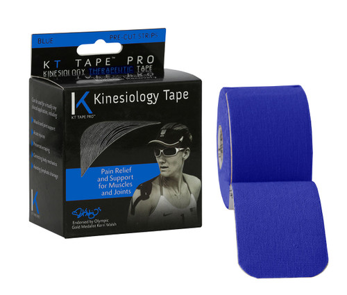 """KT¨ tape pro, 2"""" x 20' blue, pre-cut"""