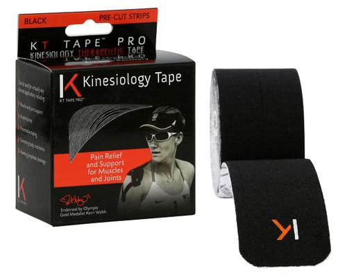 """KT¨ tape pro, 2""""x20' black pre-cut"""