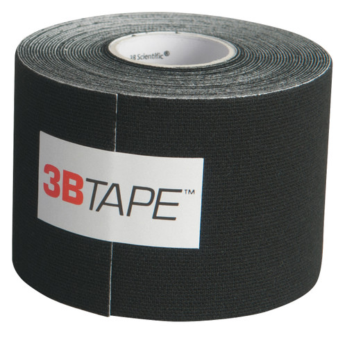 "3B Tape, 2"" x 16.5 ft, black, latex-free"