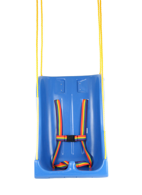 Full support swing seat with pommel, medium (teenager), with rope