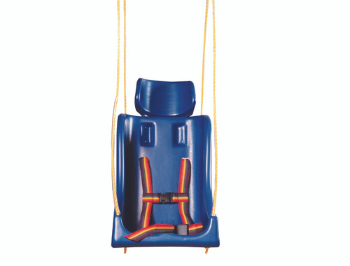 Full support swing seat without pommel, large (adult), with rope