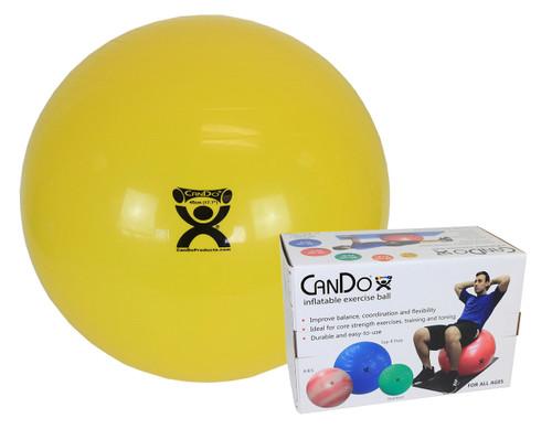"CanDo¨ Inflatable Exercise Ball - Yellow - 18"" (45 cm), Retail Box"