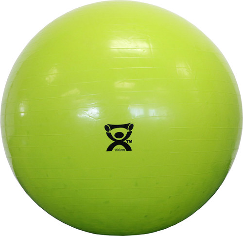 "CanDo¨ Inflatable Exercise Ball - Lime Green - 59"" (150 cm)"