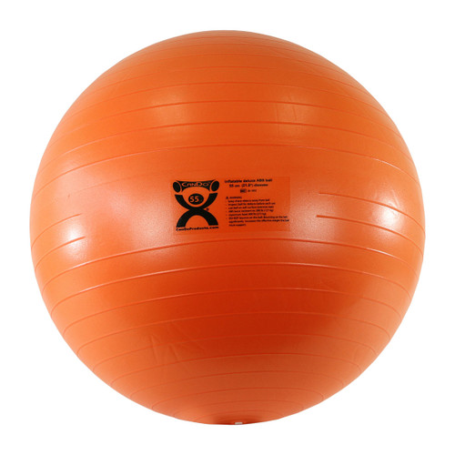"""CanDo¨ Inflatable Exercise Ball - ABS Extra Thick - Orange - 22"""" (55 cm)"""