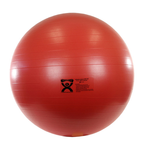 """CanDo¨ Inflatable Exercise Ball - ABS Extra Thick - Red - 30"""" (75 cm)"""