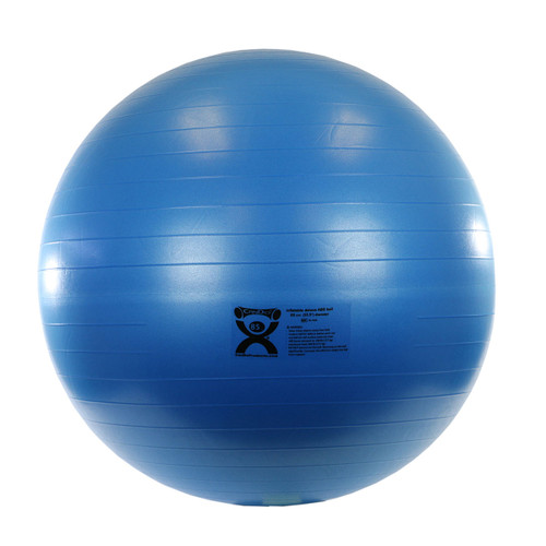 """CanDo¨ Inflatable Exercise Ball - ABS Extra Thick - Blue - 34"""" (85 cm)"""