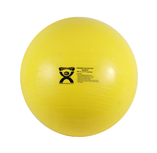 CanDo¨ Inflatable Ball, Yellow, 45cm (17.7in)