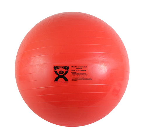 CanDo¨ Inflatable Ball, Red, 55cm (21.7in)