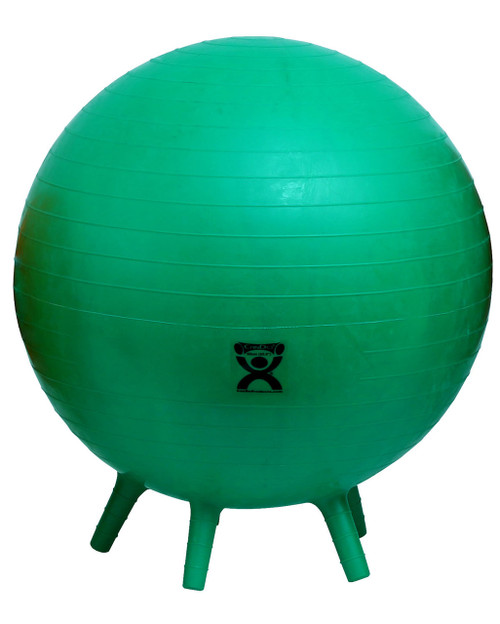 """CanDo¨ Inflatable Exercise Ball - with Stability Feet - Green - 26"""" (65 cm)"""