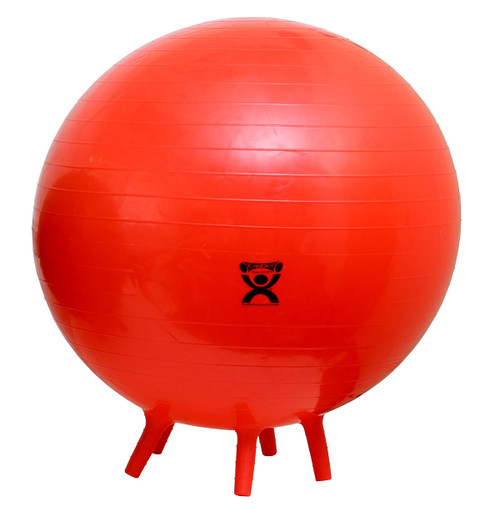"""CanDo¨ Inflatable Exercise Ball - with Stability Feet - Red - 30"""" (75 cm)"""