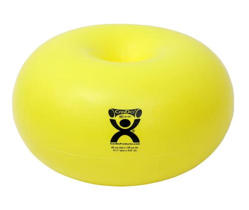 "CanDo¨ Donut Ball - Yellow - 18"" Dia x 10"" H (45 cm Dia x 25 cm H)"