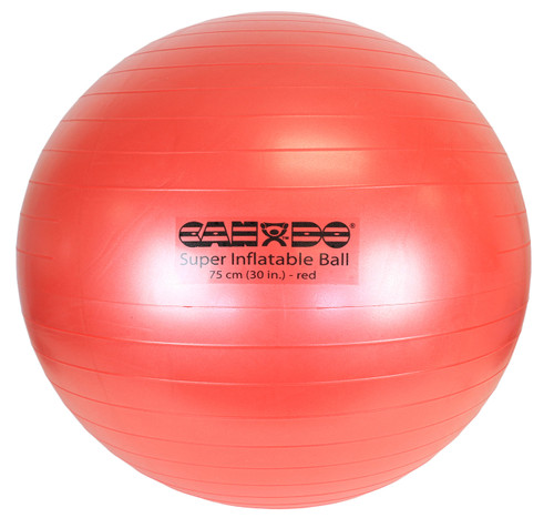 """CanDo¨ Inflatable Exercise Ball - Super Thick - Red - 30"""" (75 cm)"""