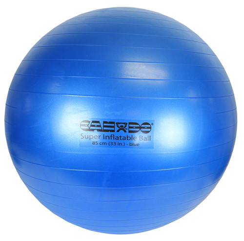 """CanDo¨ Inflatable Exercise Ball - Super Thick - Blue - 34"""" (85 cm)"""