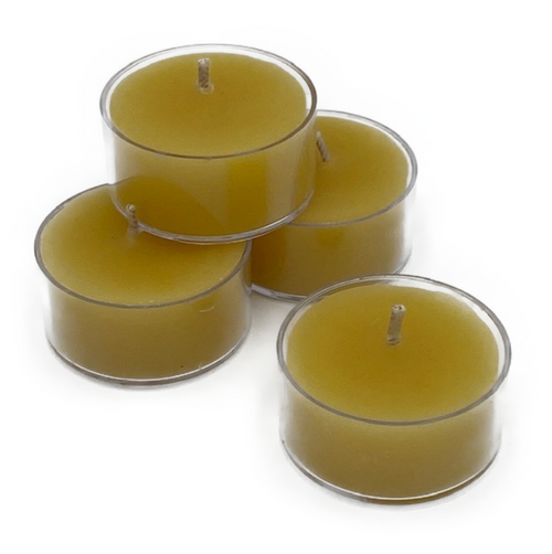 100% natural pure beeswax votive. 15 hour burn time. Cotton wick.