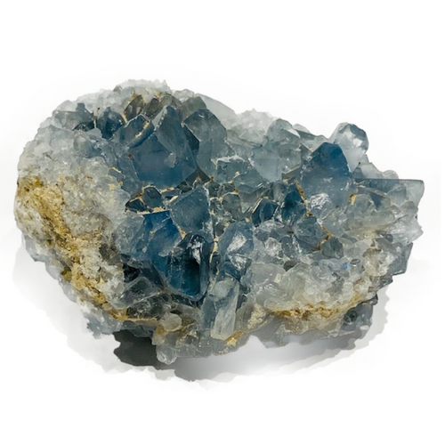"""Natural Celestite Geode. The """"angelic"""" stone. Fosters connections to angels. Purifies ones aura."""