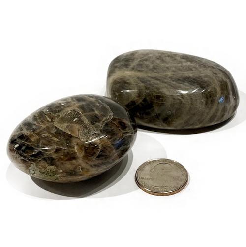 Black moonstone palmstone.