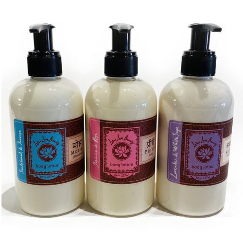 Lotus Love Beauty 100% Vegan, Ayurvedic, Organic 8floz. Hand and Body Lotion. Made in USA