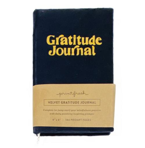 "Velvet cover, 6"" slim journal, 144 lined pages."