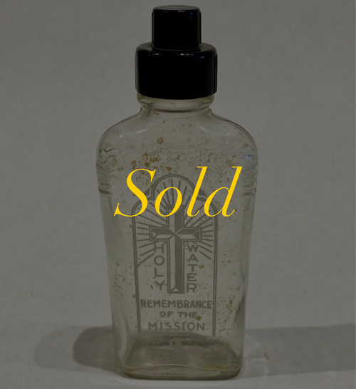 Vintage c.1930's Travel Holy Water Bottle