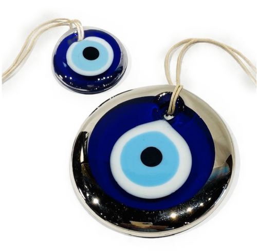 """Nazar (from Arabic, meaning sight, surveillance, attention) Believed to protect against the """"evil eye"""". Choose 3.5"""" or 1.75""""+"""