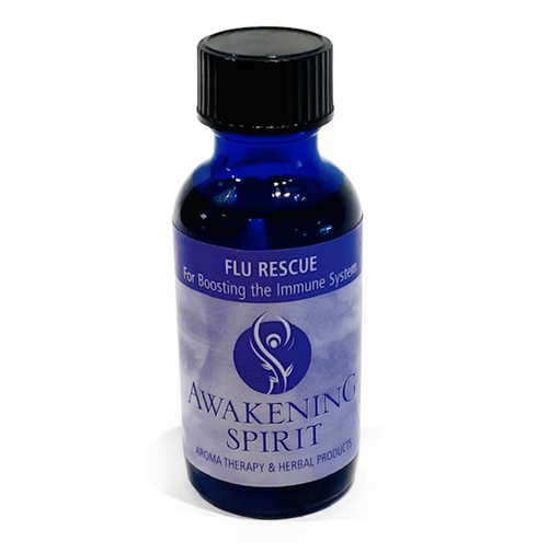 All natural ingredients: Almond, safflower and sesame oils, essential oils and vitamins A, C & E. Directions: as often as needed, massage on the lymph nodes on side of neck in downward stroke, inhale frequently.